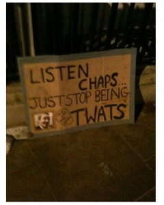 funny student protest placard