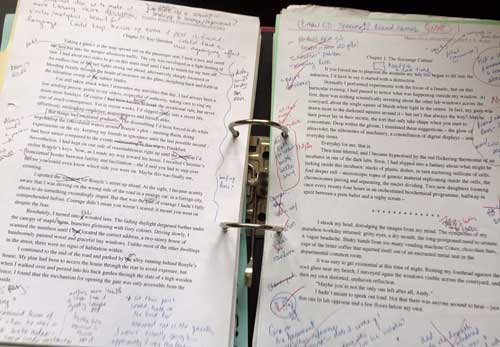 Total carnage: a ruthless editor attacks Draft 5 of my first novel, circa 1999
