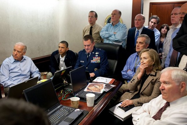 President and advisers watch the killing of Osama Bin Laden