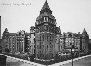 The old University College Hospital (Cruciform Building).